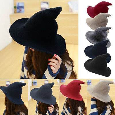Halloween Witch Hat Made From High Quality Sheep Wool Modern Party Witch Hats US - Halloween Mod