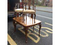 Queen Ann table & 4 chairs