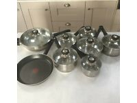 Set of Judge Stainless Steel Saucepans for sale