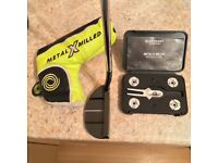 Rare Odyssey 9HT Metal X Milled Putter, inc headcover and weight kit