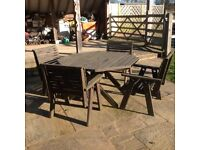 Wooden Garden Patio Set