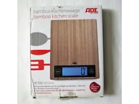 Bamboo kitchen scale by ADE Germany