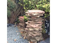FREE: 40 Red Concrete Slabs for Patio