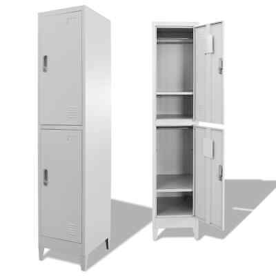 Locker Cabinet With 2 Compartments 15x17.7x70.9