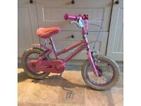 """Children's princess bike 14"""" 3 years plus"""