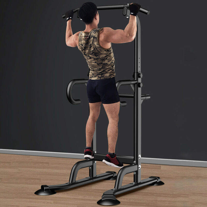 Power Tower Dip Station Chin Up Bar Pull Push Home Gym Fitne