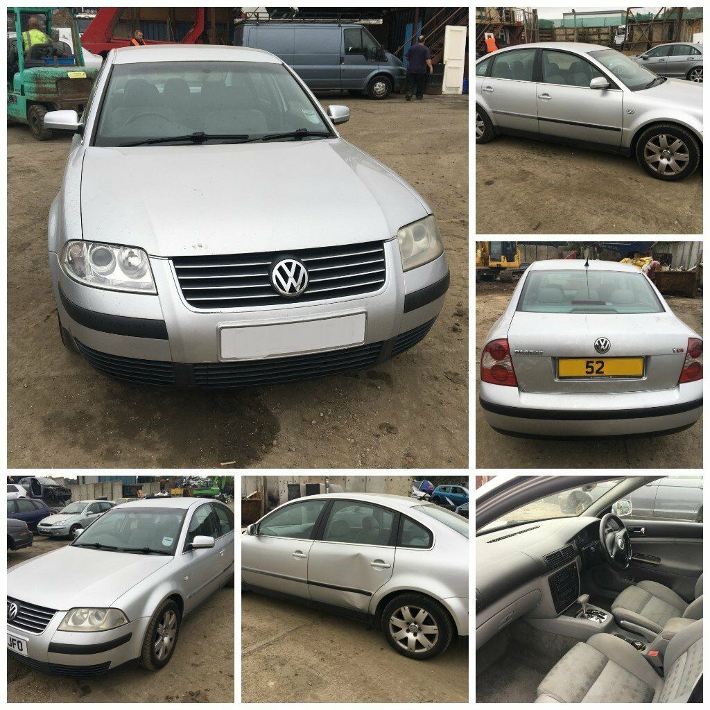 Volkswagen Passat Sport TDI 1.9 Diesel Auto 2002 Silver (Front Bumper) all parts Available