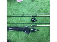 Carp rods/reels/alarms/chair/bivvy