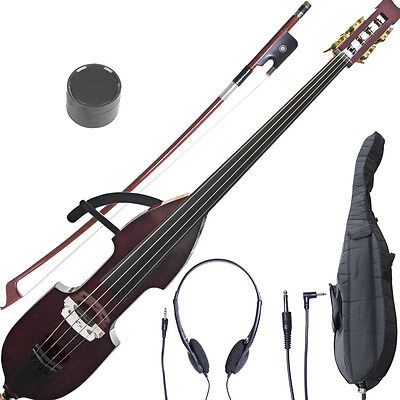NEW CECILIO ELECTRIC SILENT 3/4 UPRIGHT DOUBLE BASS on Rummage