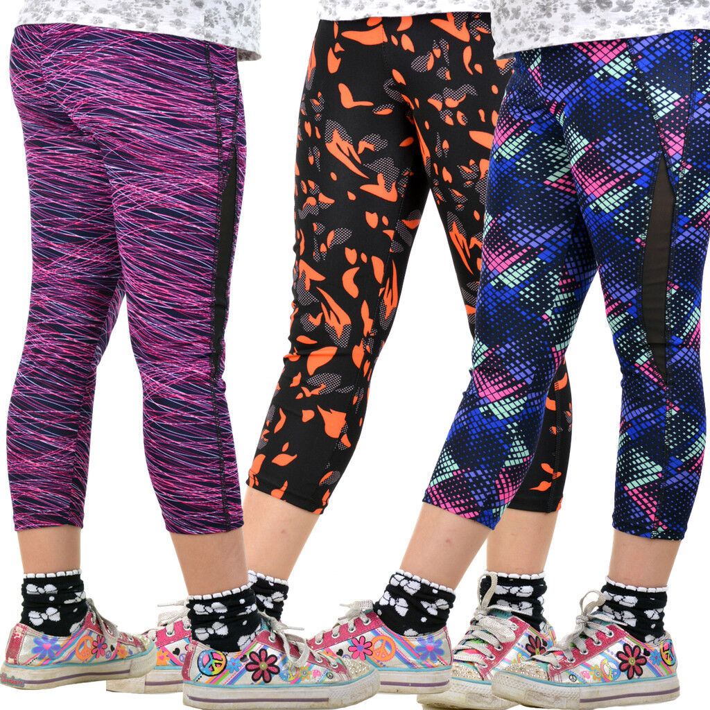 Leggings Kinder Fitness Mädchen Hose Jeggings Treggings Loggins Sport 134-170