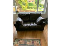 Brown leather settees 2
