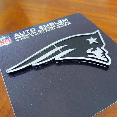 New England Patriots Logo Chrome Metal Nfl Auto Emblem Car Truck Football Decal