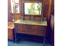 Antique dressing table & wardrobe