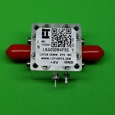 Broadband Low Noise Amplifier 0.8db Nf 50mhz To 4ghz 18db Gain 22dbm P1db Sma