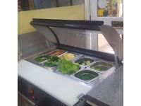 REFRIGERATED COUNTER TOP PREP COUNTER.