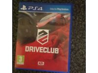 Ps4 games Drive Club and The Division