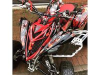 Yamaha Raptor 700R Black & Red 2016 Road Legal, Custom Graphics