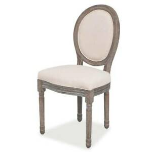 FAST & FREE DELIVERY Dining Chairs 4 pcs Cream 8VI-6FK-244088