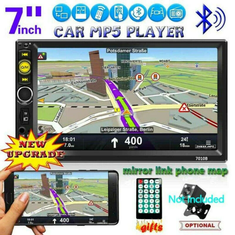 "Car Stereo Radio Double 2 DIN 7"" HD MP5 MP3 FM Player Touch"