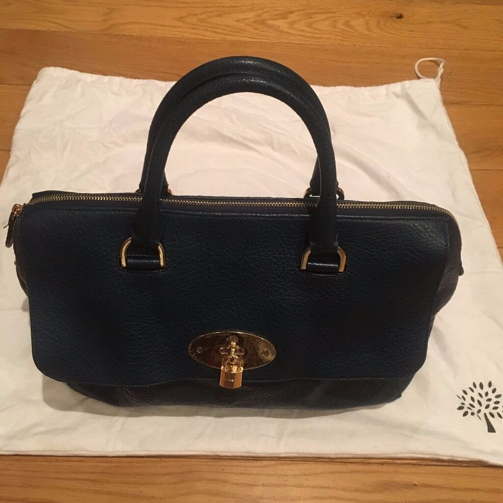 Mulberry Del Rey bag - teal blue leather 90814a4b8a205