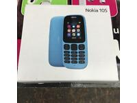 Nokia 105 new sealed boxed in black and blue color