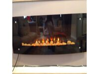 Electric wall mounted fire with remote control