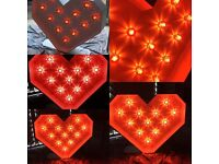 5ft Illuminated LOVE letters and/or HEART for weddings, parties etc
