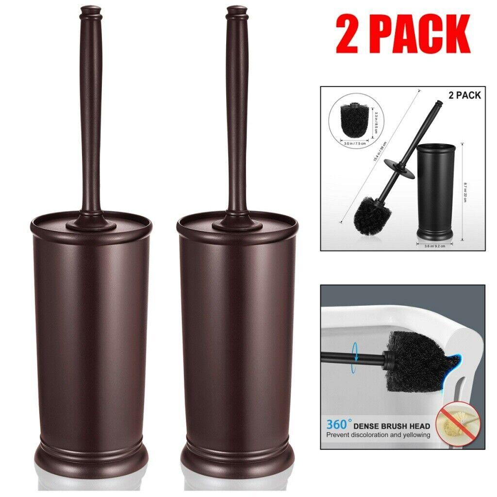 2pcs Toilet Brush Set Vented Stainless Steel Home Bathroom B