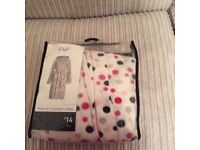Fleece hooded brand new dressing gown - size medium