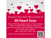 Adults of WEST AFRICAN descent wanted for 3D heart MRI