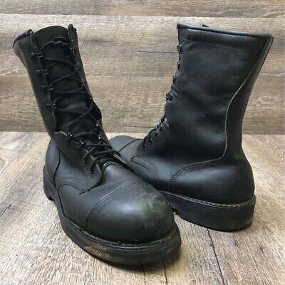 Biltrite Men's Black Leather Lace Up Steel Toe Military Combat Jump Boots -
