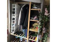 Wooden Canvas double wardrobe
