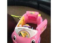 pink sit in toy car like new £20.00 no offers