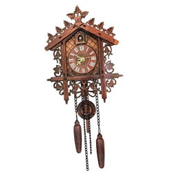 Antique Wooden Cuckoo Wall Clock for Bedroom Living Room Office Decoration#2
