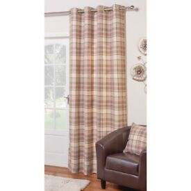 *WANTED* Vintage Check Curtains in Mink 66x72