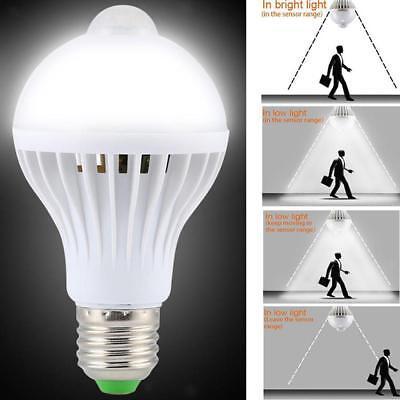 5W E27 LED PIR Movimento Sensore Auto Luci Lampada Lampadina Infrarossa