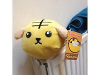 Tiger bean anime plush toy with tag