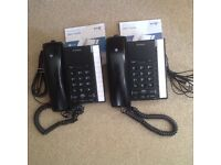 2 BT Converse 2200 corded telephones