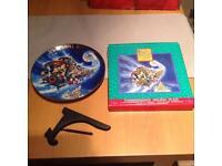 Disney Christmas porcelain plate