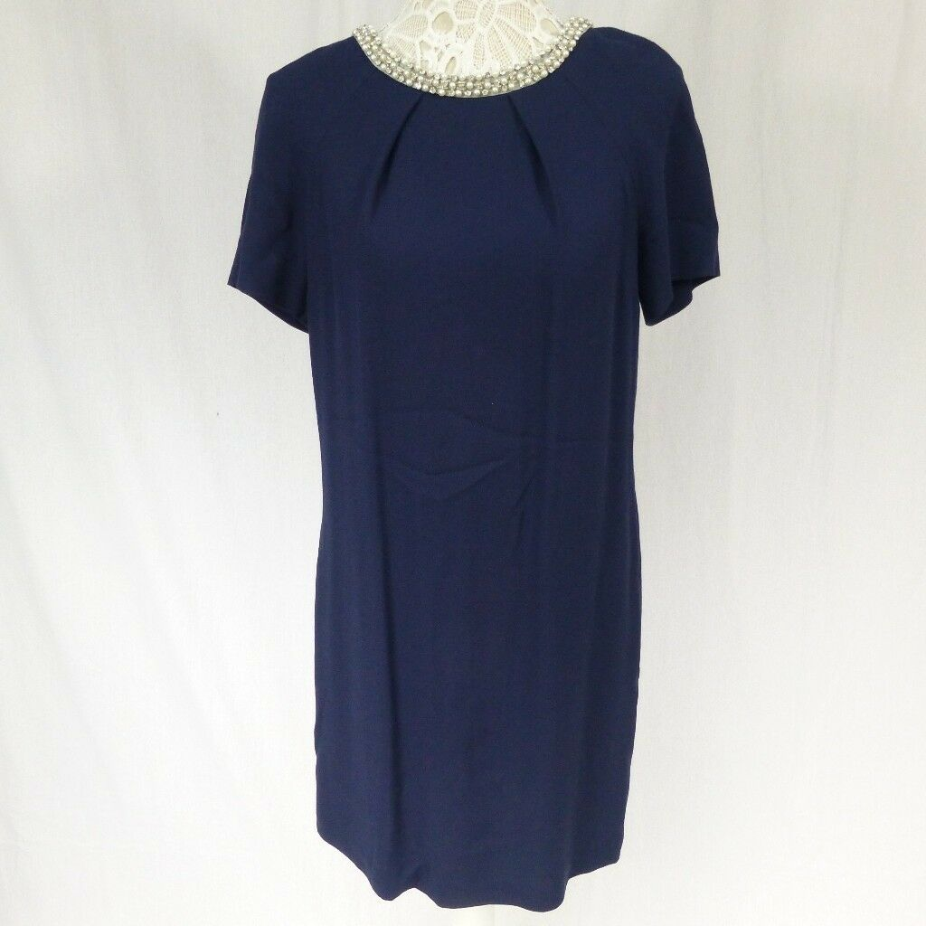 Monsoon Embellished Navy dress size 8