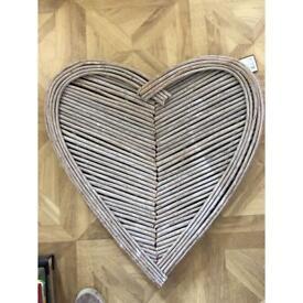 Heart shaped wall art