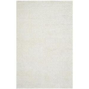 NEW Safavieh STS641W-5 Saint Tropez Collection Hand Woven Snow White Polyester Area Rug