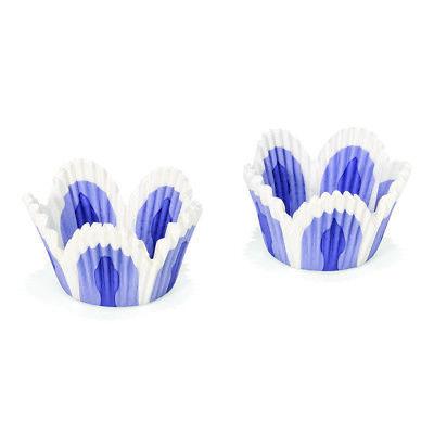 Papier Backformen - 48 Stück Tulpe blau Ø 5 cm 01850 (Backen-cup)
