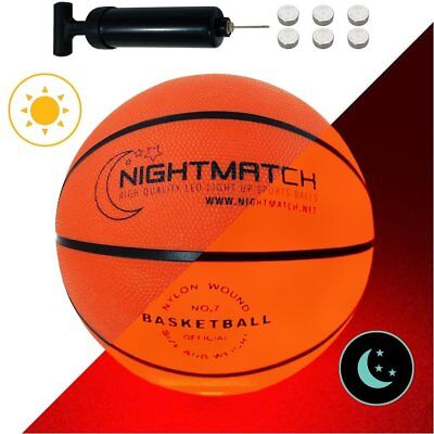 Light Up Basketball Ball Official Size Weight LED Glow In Dark Night Game Play](Light Up Basketball)