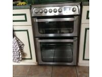 Freestanding Hotpoint Ultima Hue 62 Electric Cooker, Double Oven
