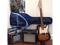 Aria STG-series electric guitar and Kustom Amp KGA10FX