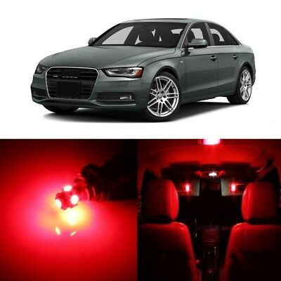 18 x Error Free Red LED Interior Light Kit For 2009 - 2016 Audi A4 S4 + Pry TOOL