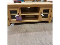 Knightsbridge Oak tv cabinet **Half price £150**