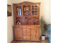 Pine Welsh Dresser with good storage space.