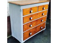 Painted Antique oak chest of draws